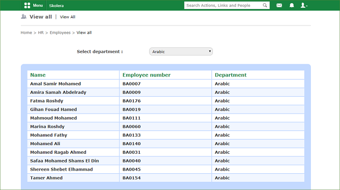 school management system Employee-View-all