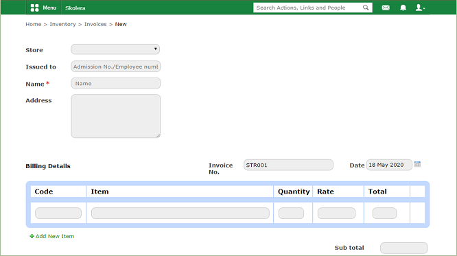 Invoices-New - school management system