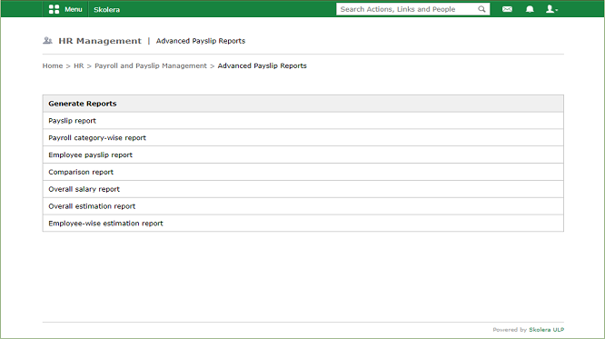 Payslip Management-Advanced Payslip Reports - school management software - school